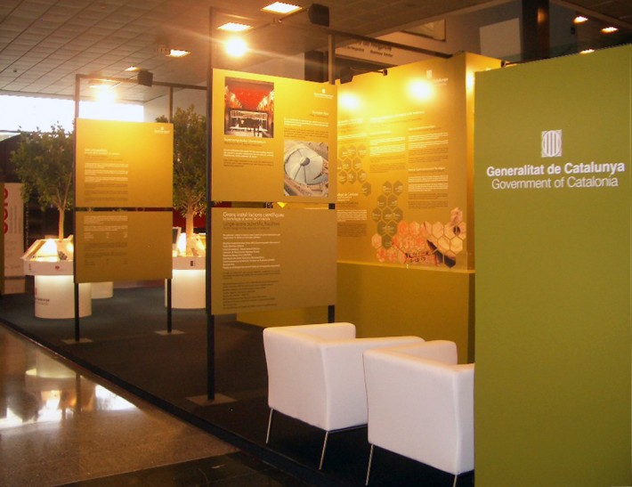 Estand, stand, Barcelona, congrés científic, congreso científico, science forum