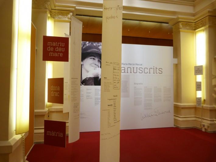 Exposició , exposición, exhibition Barcelona Palau Robert Maria-Mercè Marçal