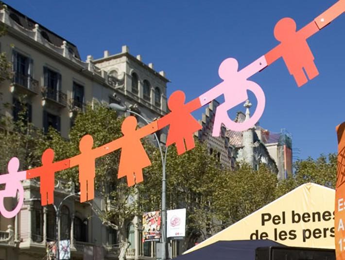 bpdisseny, Maria Rosa Birulés, Estand, stand, Ciutat de les Persones 2006, Barcelona, reciclatge materials, reciclaje de materiales, reusing materials