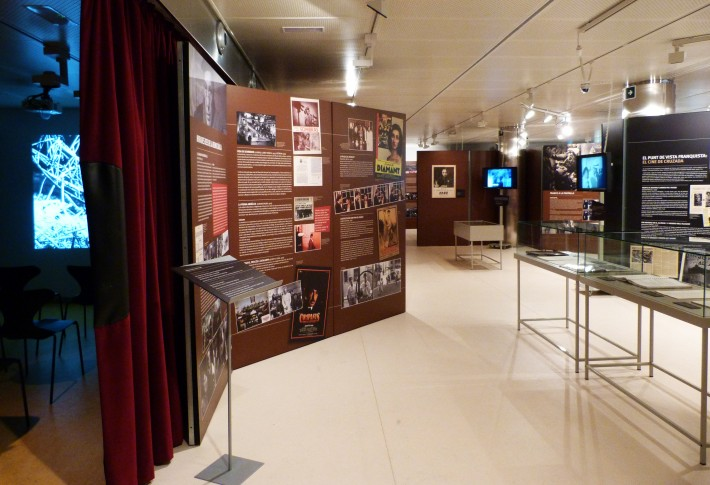 Exposició, exposición, exhibition, guerra civil, filmoteca catalunya, Barcelona film archive