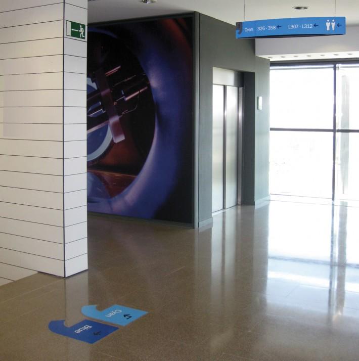 ICFO, The Institute of photonics science, retolació, senyalització, rotulación, signage