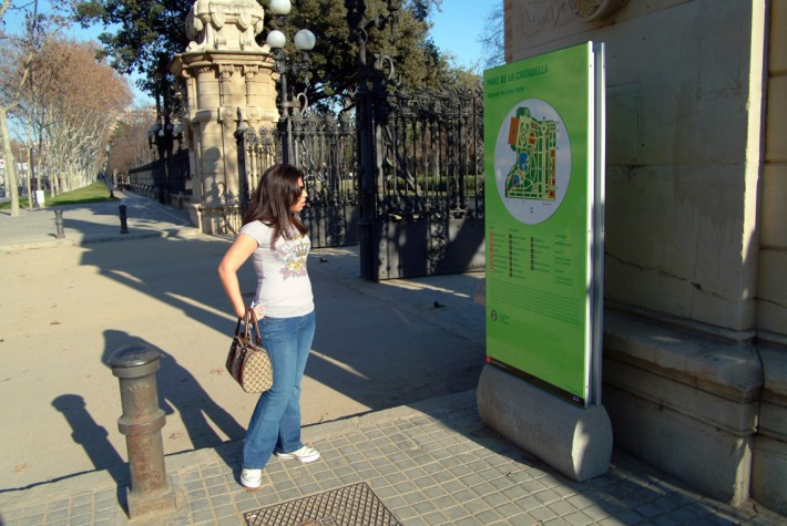 Retolació, rotulación, signposting, Parcs i Jardins, Parques y jardines, Urban parks, Barcelona, invidents, invidentes, blind peersons, Braille