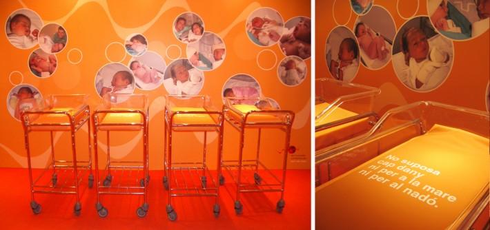 Exposició, exposición, exhibition, Donació sang cordó umbilical_donación sangre cordón_umbilical cord blood donation, Hospital Vall Hebron, Banc de sang i teixits Barcelona